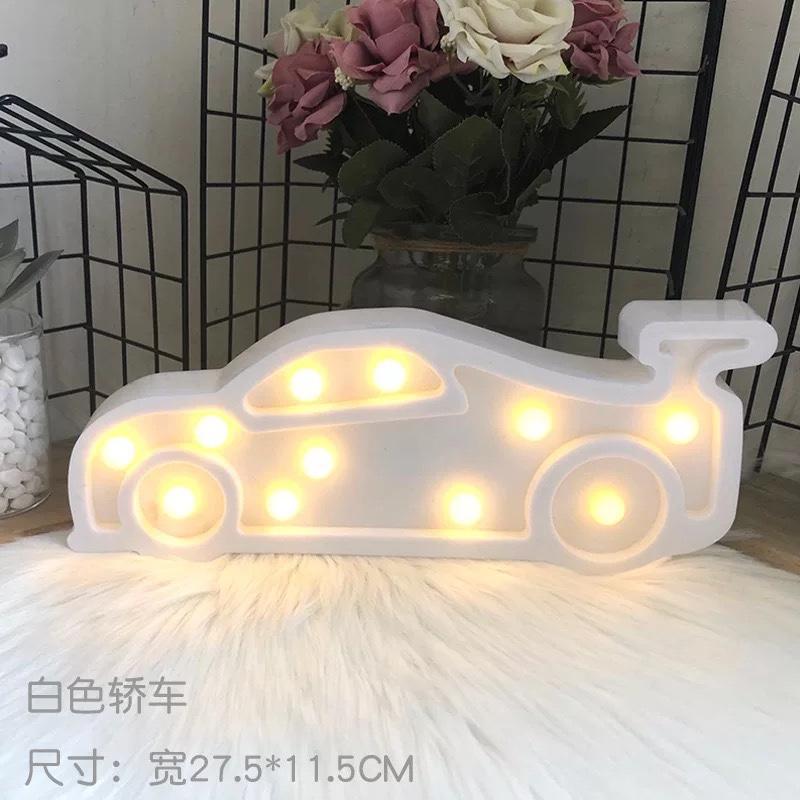 韩chic风轿车灯小彩灯造型灯ins爆款装饰摆台拍照道具台灯小夜灯白色