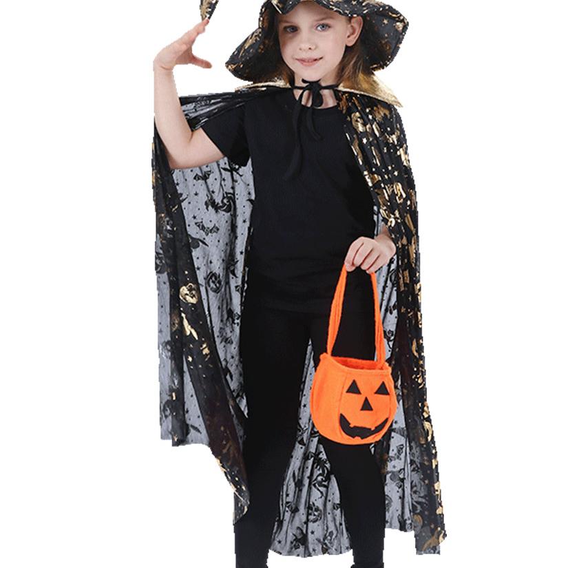 万圣节儿童服装男童女童披风斗篷cosplay巫婆化妆舞会女巫演出服43
