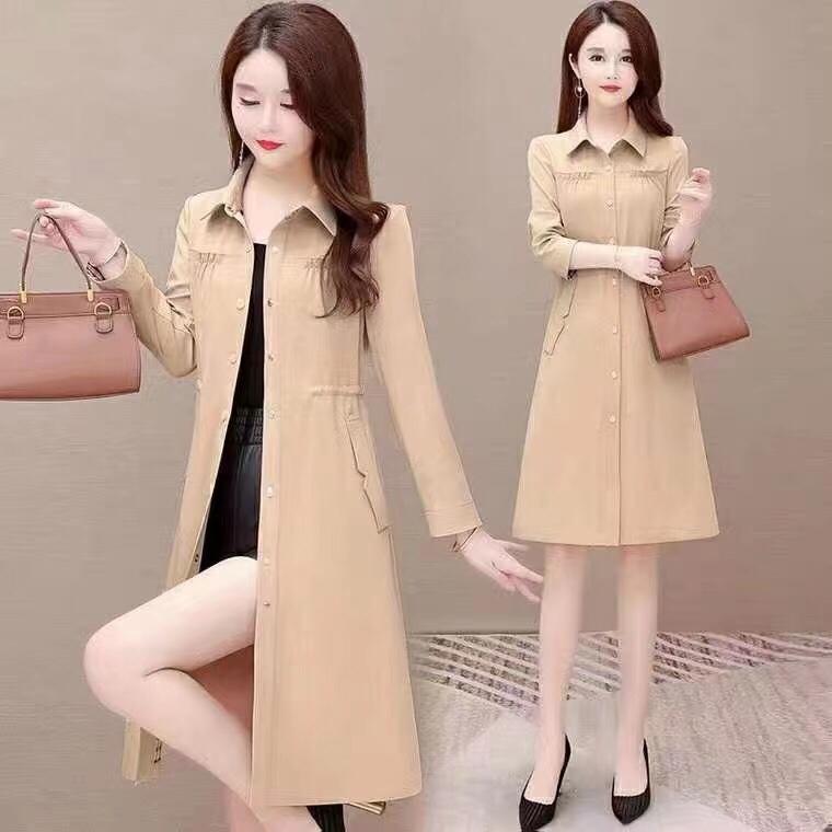 2021新款女装韩版修身风衣