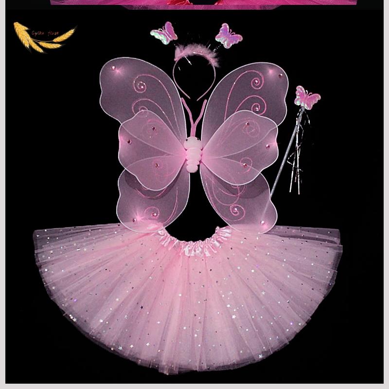 万圣节套装花仙子小精灵演出服圣诞节女童公主裙蝴蝶翅膀儿童服装24