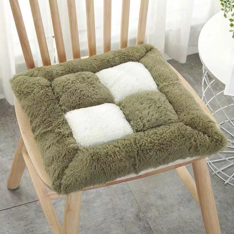 厂家批发毛绒垫椅垫坐垫正方形居家办公室坐垫多色可选择
