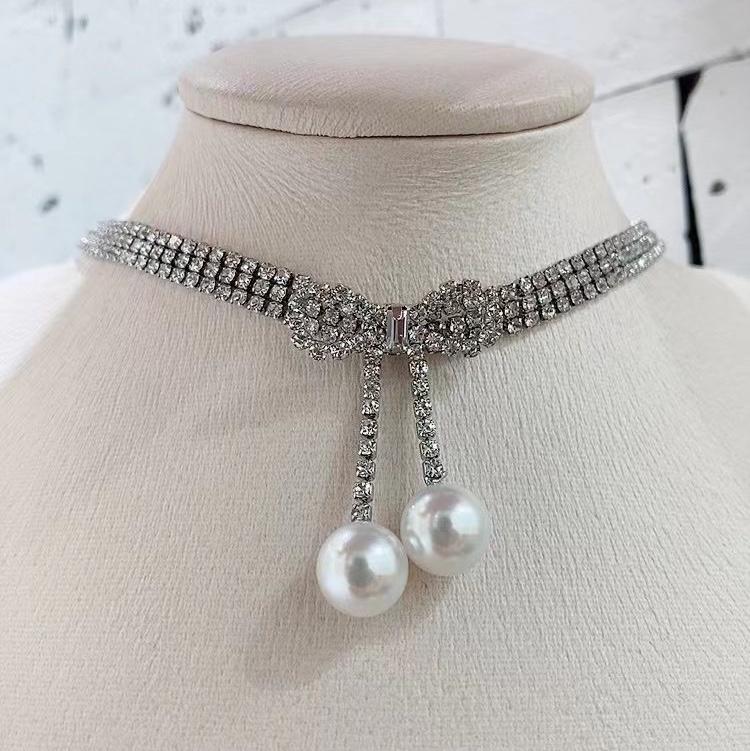 大珍珠白色项链