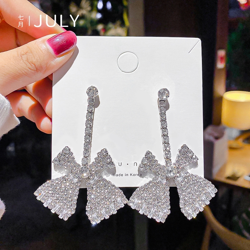 韩系精美水晶耳环