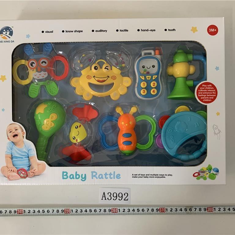 A3992 婴儿牙胶摇铃8pcs-BF.B