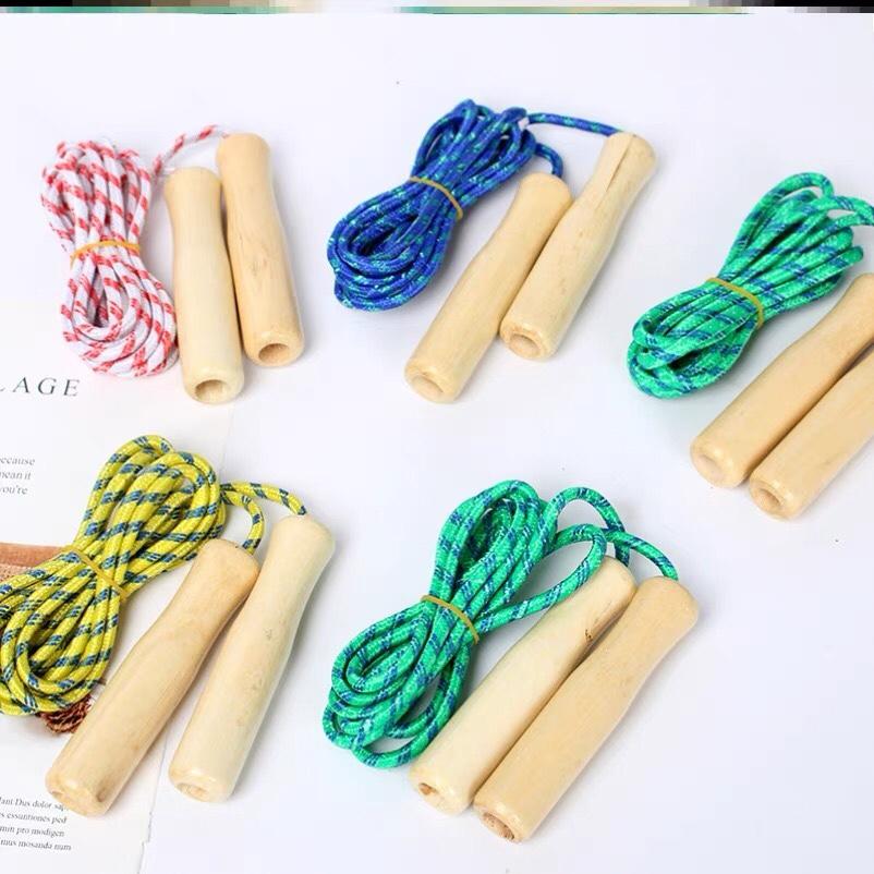 跳绳儿童小学生比赛初学者木柄简约跳绳体育户外运动健身玩具