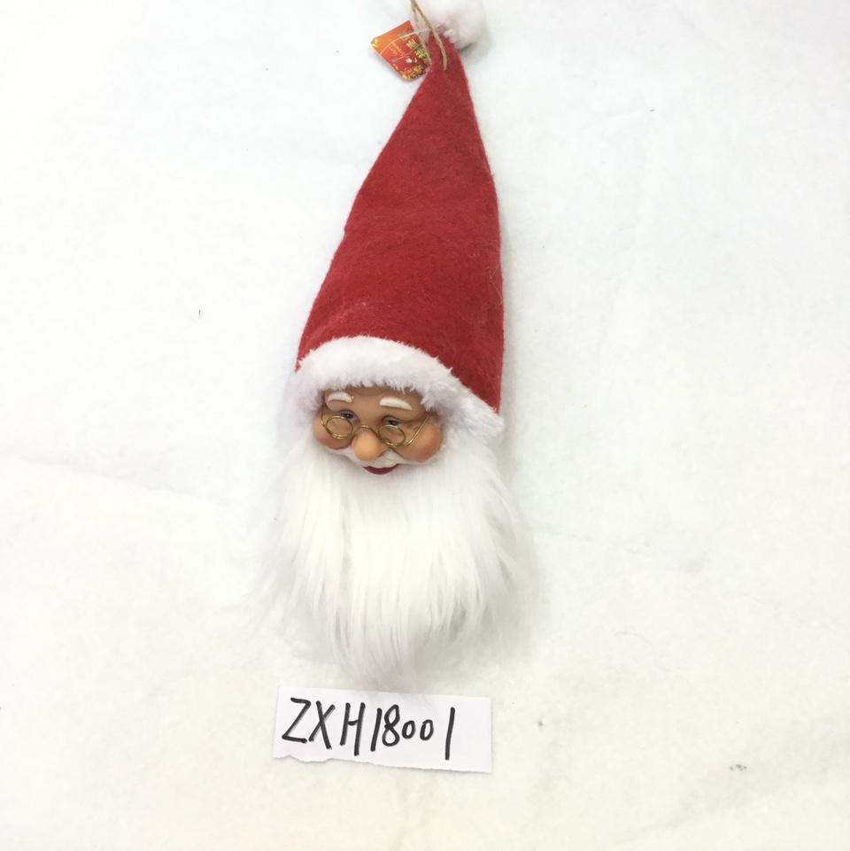 L C印白色长毛圣诞头厂家直销