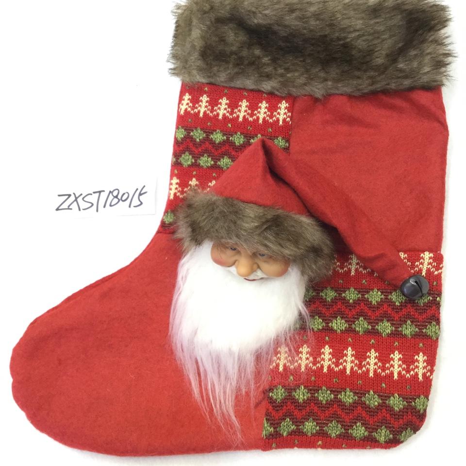 L C印圣诞元素13圣诞袜厂家直销