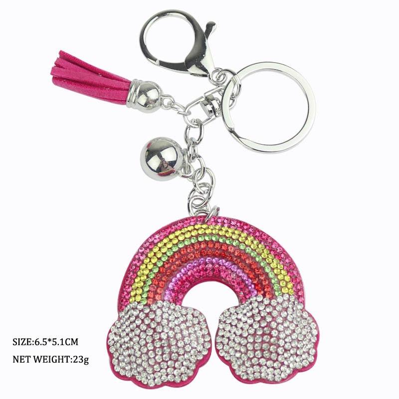 韩国可爱满钻法斗犬模型钥匙扣圈包包挂件挂饰潮女创意小狗钥匙链20