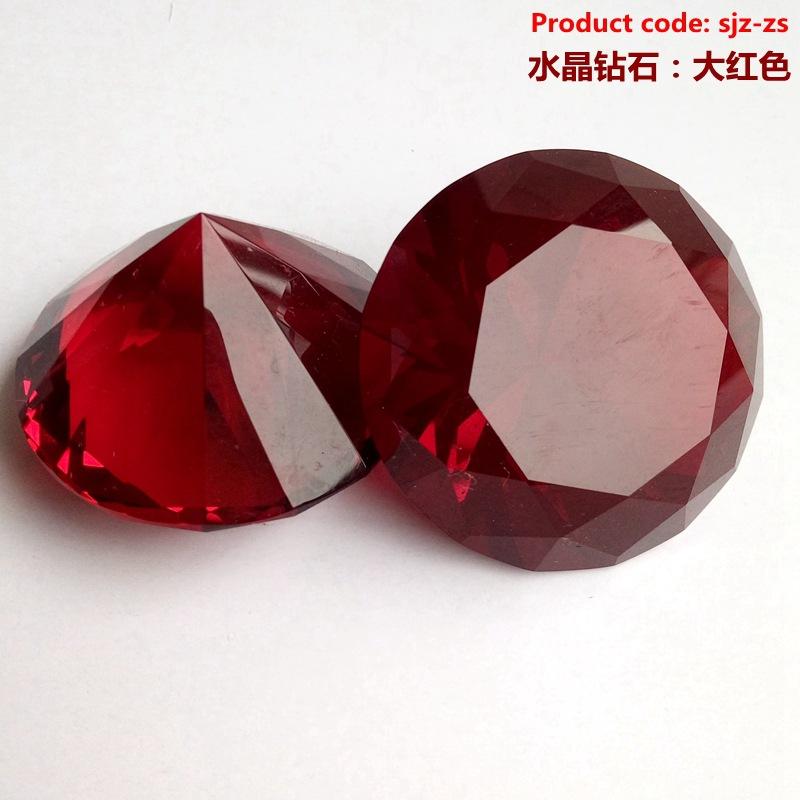 水晶摆件彩色钻石装4