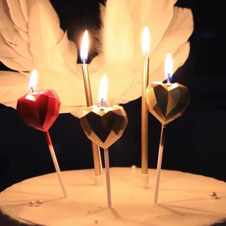 爱心金银蜡烛