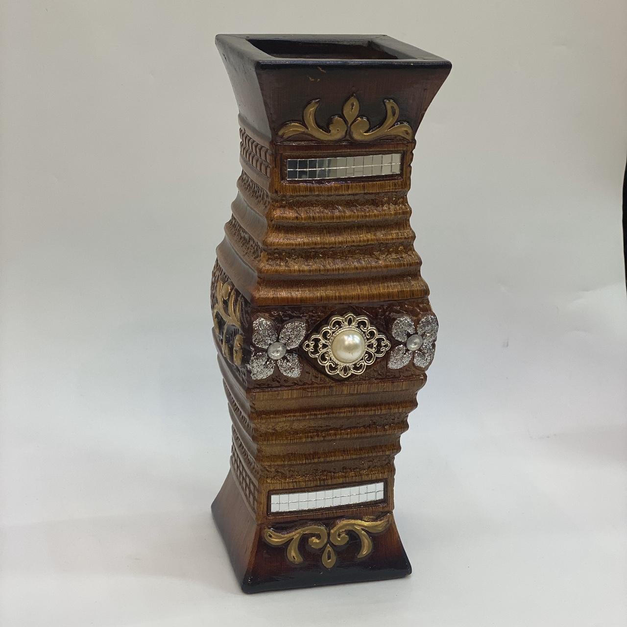 插干花花瓶 30CM陶瓷花瓶 工艺品摆件 花瓶花插漆彩工艺4