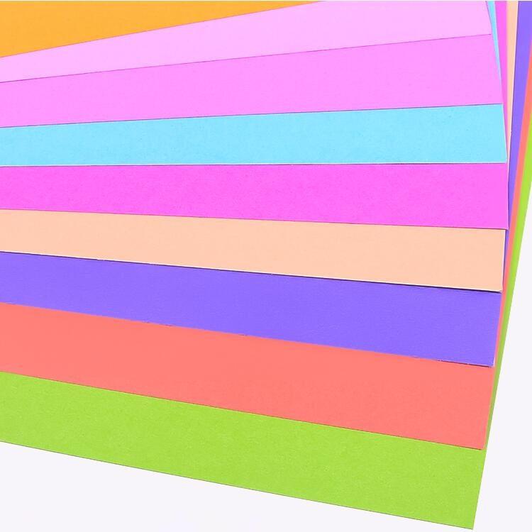 纸林棠 A4打印纸彩色混色单色手工折纸100张彩纸手工纸2577