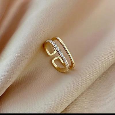 高级款锆石戒指轻奢现代精致时尚个性设...