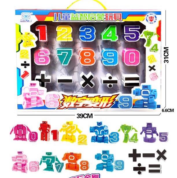 变形数字早教玩具变形金刚