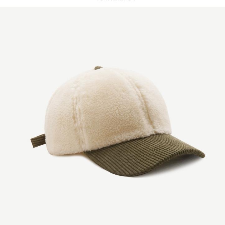 帽子潮女秋冬韩版加厚保暖羊羔毛棒球帽可爱毛绒纯色百搭学生鸭舌帽
