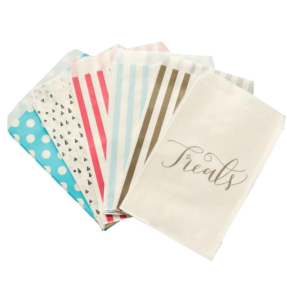 波点条纹小食品糖果礼品饼干袋子 烘焙包装袋 牛皮纸袋一次性