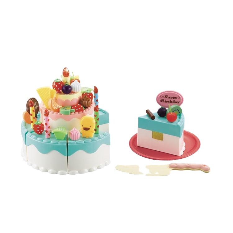 儿童过家家电动灯光可切切生日蛋糕