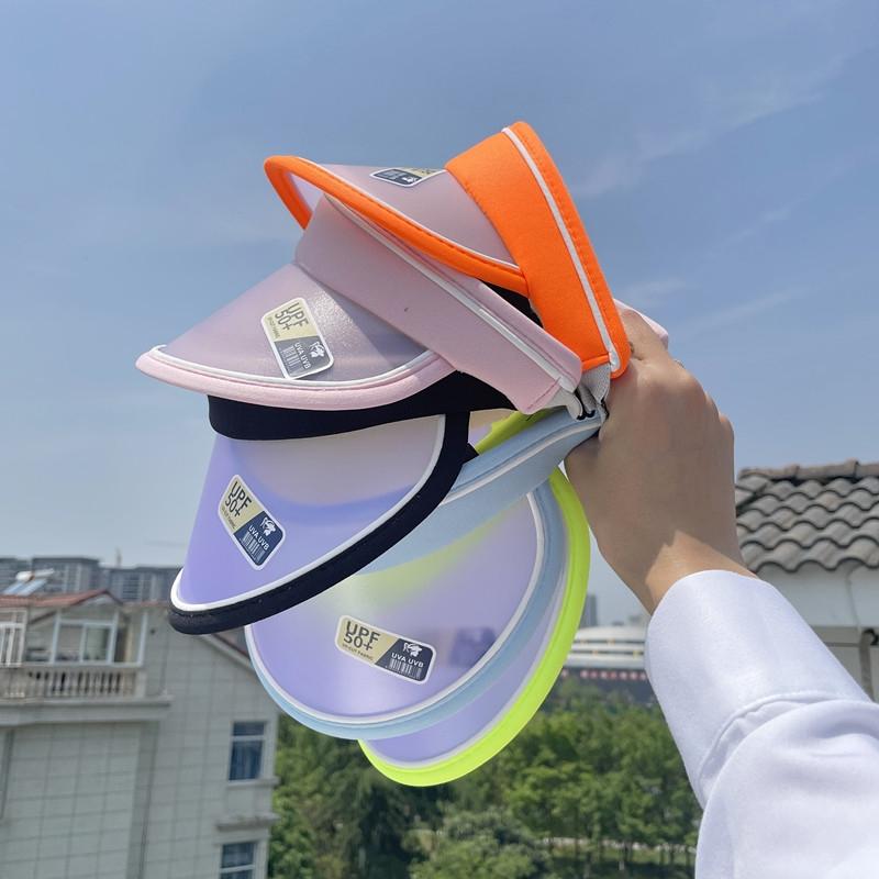 儿童夏季防紫外线遮阳帽男女童户外运动韩版百搭变色防晒帽空顶帽