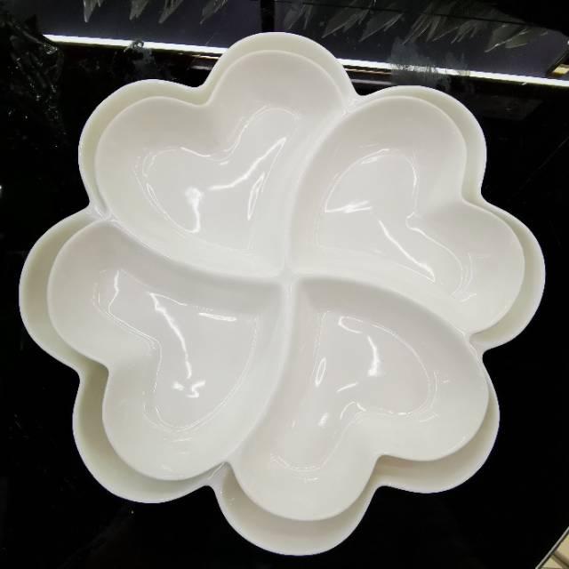 创意陶瓷水果盘家用简约果盘日式零食盘分格沙拉盘客厅点心干果盘651