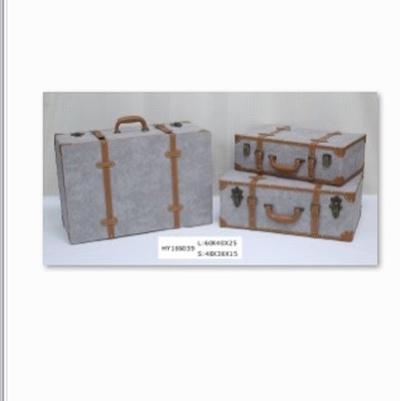 复古箱老式皮箱手提木箱仿古箱收纳箱子...