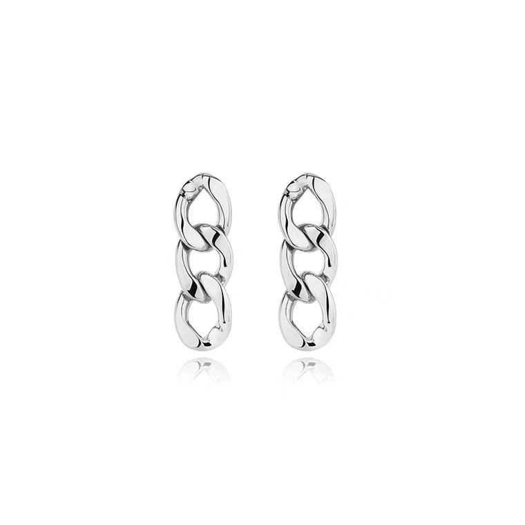 链条长款耳环女复古气质个性耳钉欧美轻奢显瘦银针高级耳饰