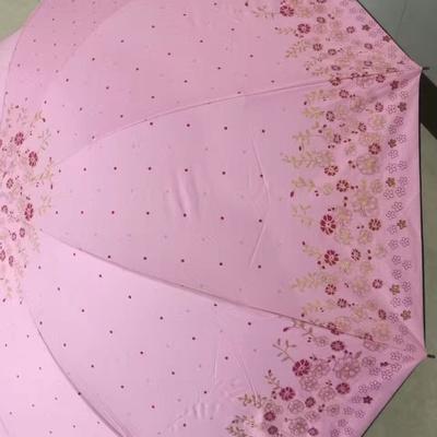 H711三折伞商务伞黑胶遮阳伞晴雨伞...