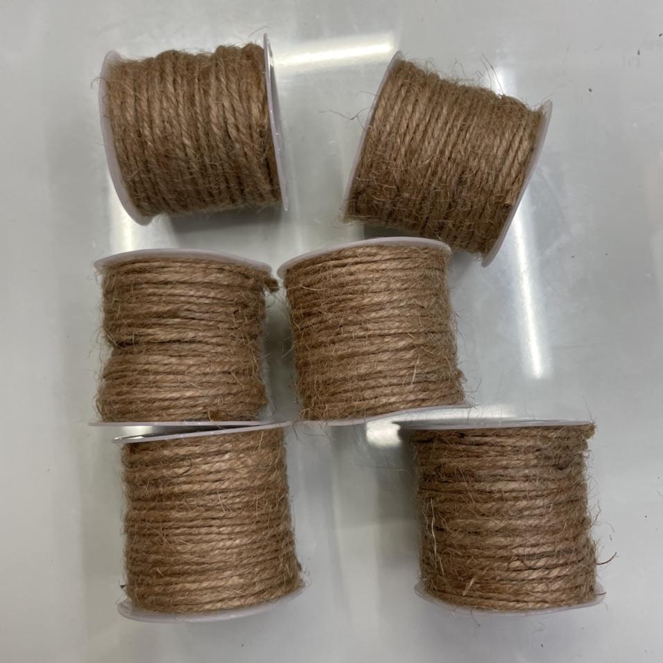 三股麻绳2毫米10米一卷黄麻绳环保绳捆绑装饰材料