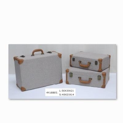 三件套麻布套装提箱礼盒包装