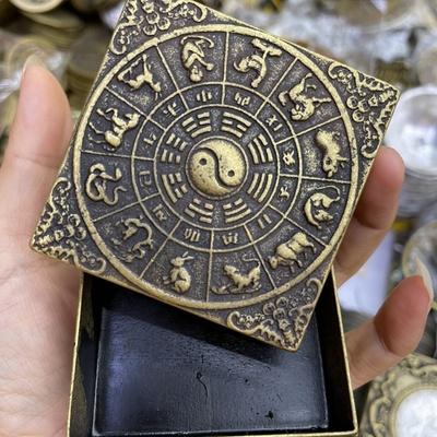 1084黄铜仿古墨盒