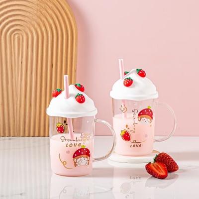 草莓玻璃杯,马克杯