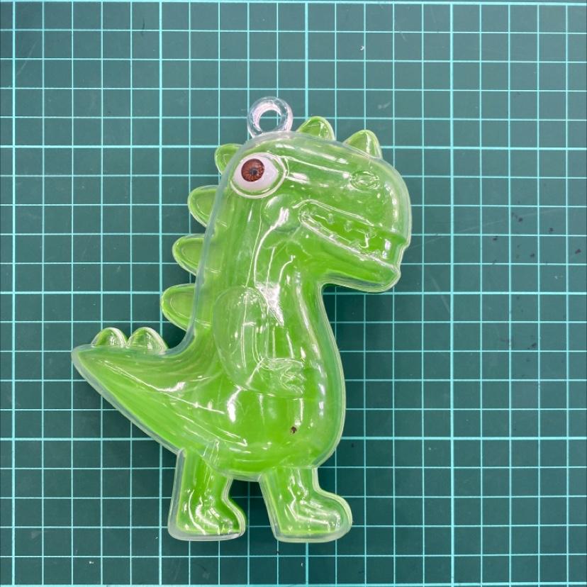 方圆收纳盒 现货供应 浅绿色恐龙