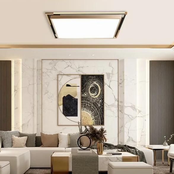 欧普星耀系列梦阳极氧化铝材料调光调色LED客餐厅时尚简约大气吸顶灯