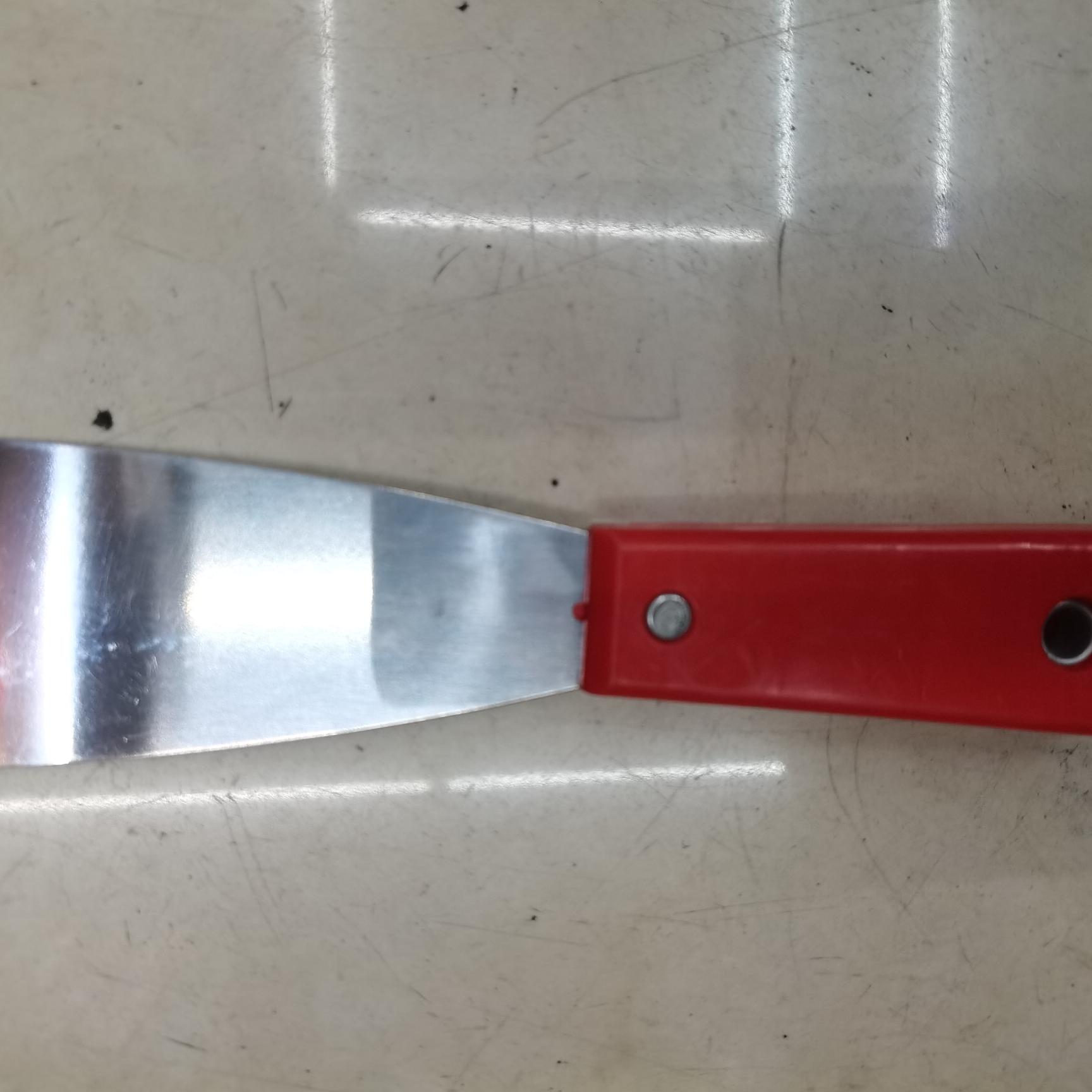 红色塑柄全尾镜面油灰刀8寸