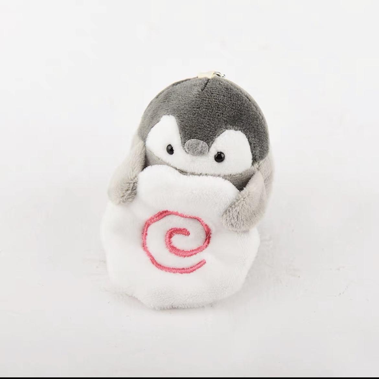 柴犬企鹅钥匙扣挂件男女创意可爱情侣熊猫毛绒公仔背包挂饰小玩偶50