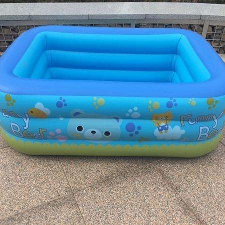 充气玩具儿童透明鸭裤子座圈亮片二层水池