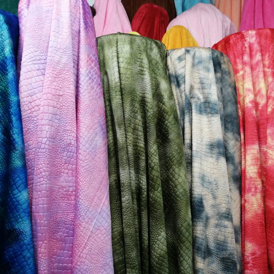 扎染恐龙布布料