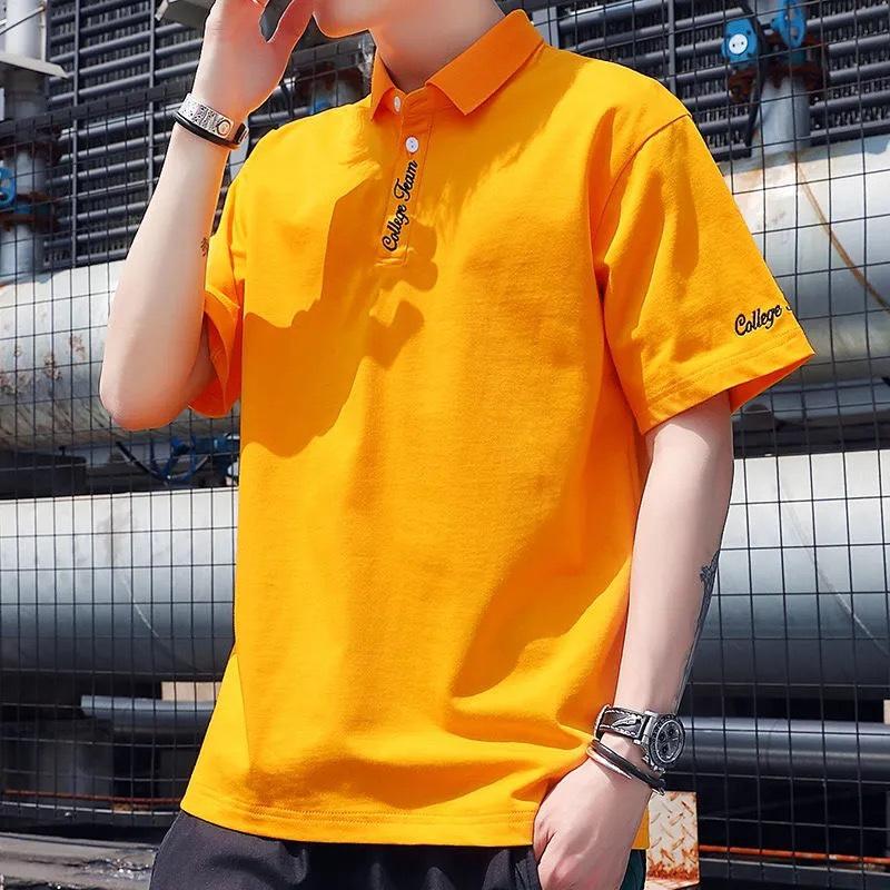 新款保罗衫POLO衫男士短袖t恤翻领夏季韩版潮流纯棉体恤宽松半袖T  2