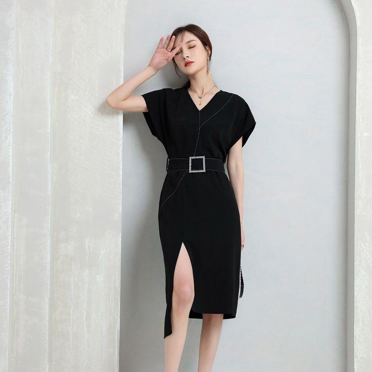 吉米赛欧2021夏季新款连衣裙专柜正品简约高级感收腰显瘦中长款