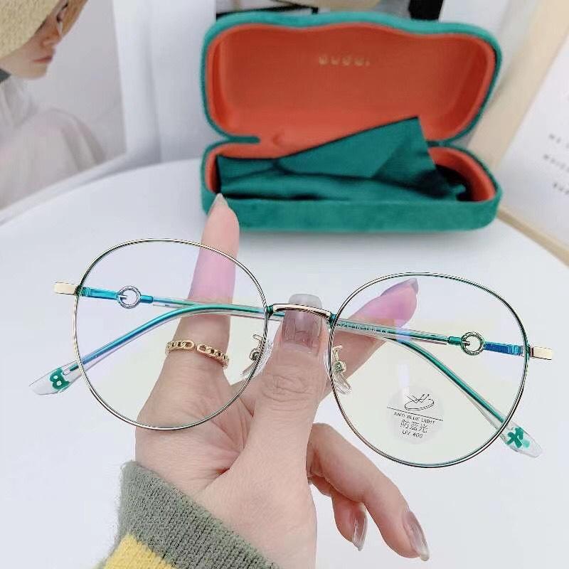 0829 网上配镜散光近视眼镜框女超轻款纯钛防蓝光可配有度数眼睛框架男