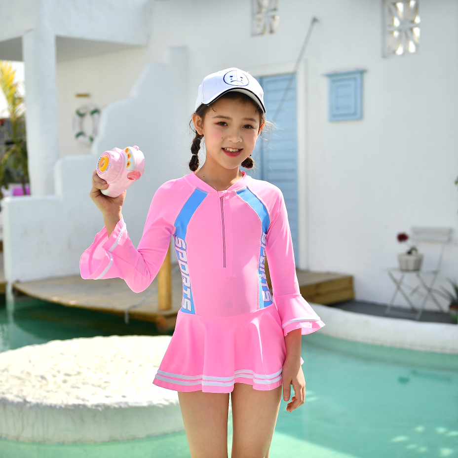 运动风女童连体裙装2032#