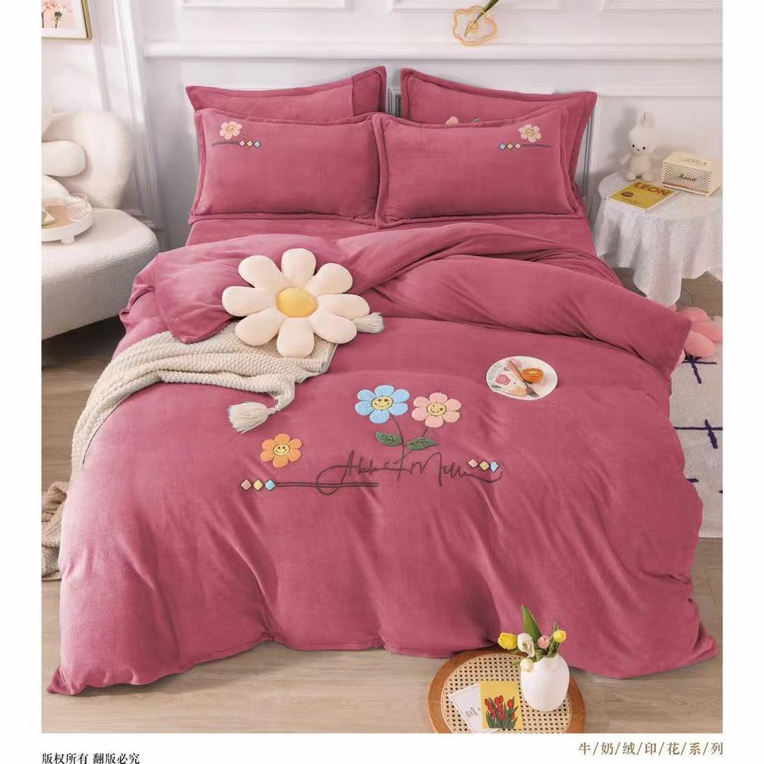 新品上市🌸 【高端婴儿绒】  ᐈ 规格:被套200x230  ,床单 250x250 ,枕套48x74x2