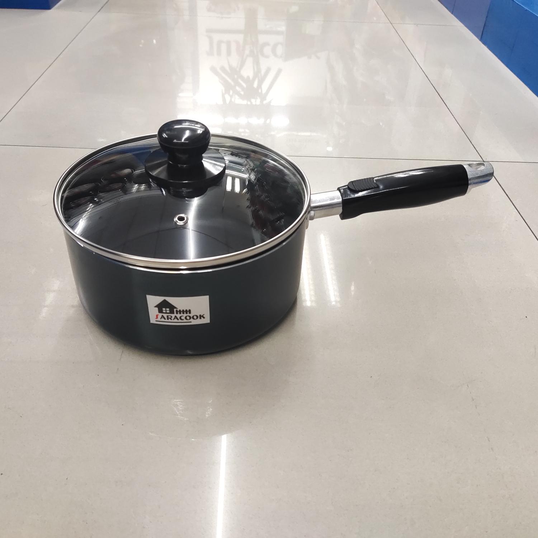 SARACOOK 16cm奶锅,片手,汤锅不粘煮粥熬汤复底燃气灶电磁炉两用锅,单柄小汤锅