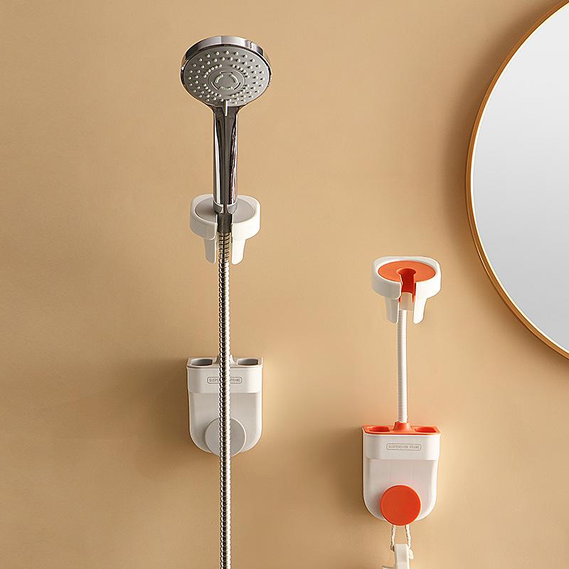 免打孔万向花洒支架固定器配件淋浴喷头可调节花洒底座吹风机架