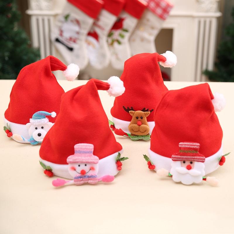 圣诞帽圣诞节装饰用品鹿角铃铛头扣头箍发箍头饰品儿童礼物派对晚会装扮圣诞帽