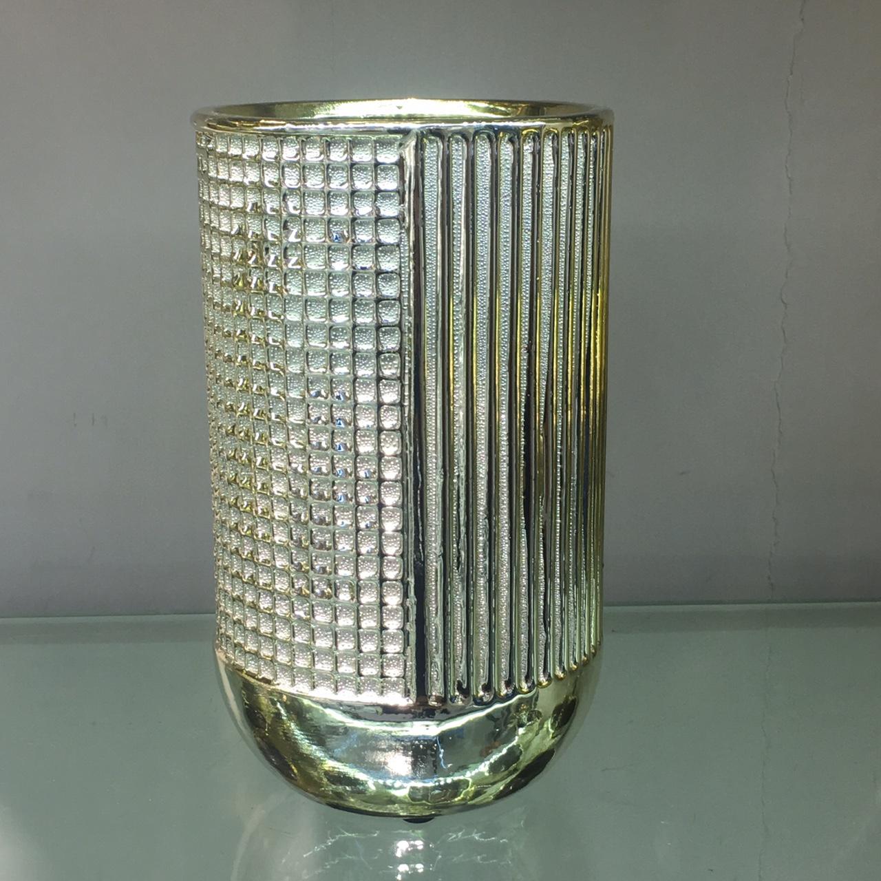 轻奢现代陶瓷电镀花瓶客厅插花餐桌陶瓷家具装饰