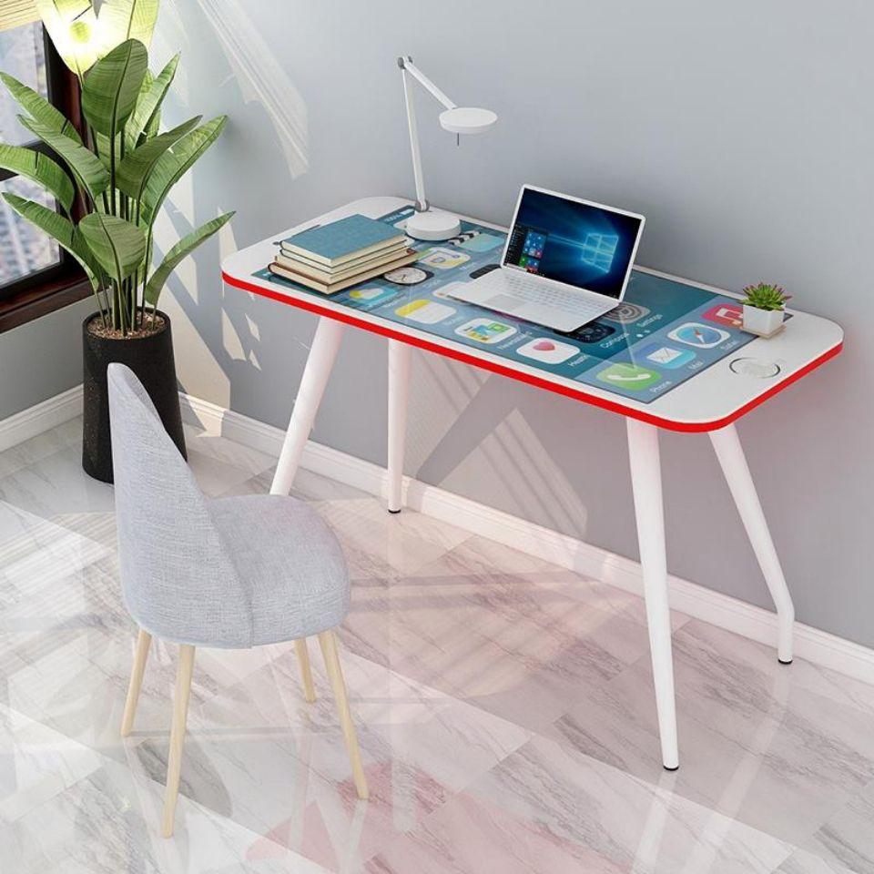 铭华家具厂iphone苹果手机款电脑桌办公桌写字桌简易时尚家用学习桌