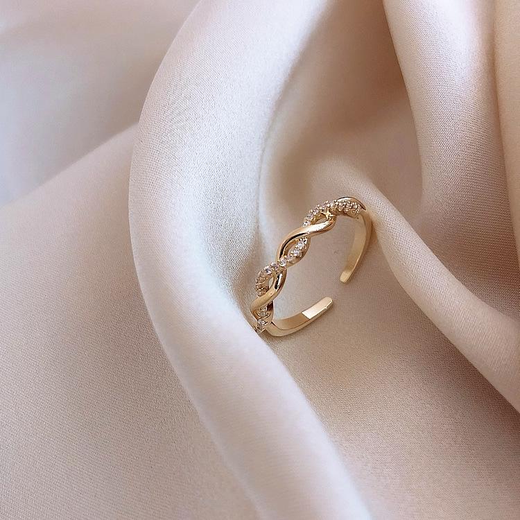 韩国缠绕戒指女ins潮时尚个性食指戒网红简约开口戒夸张尾戒指环