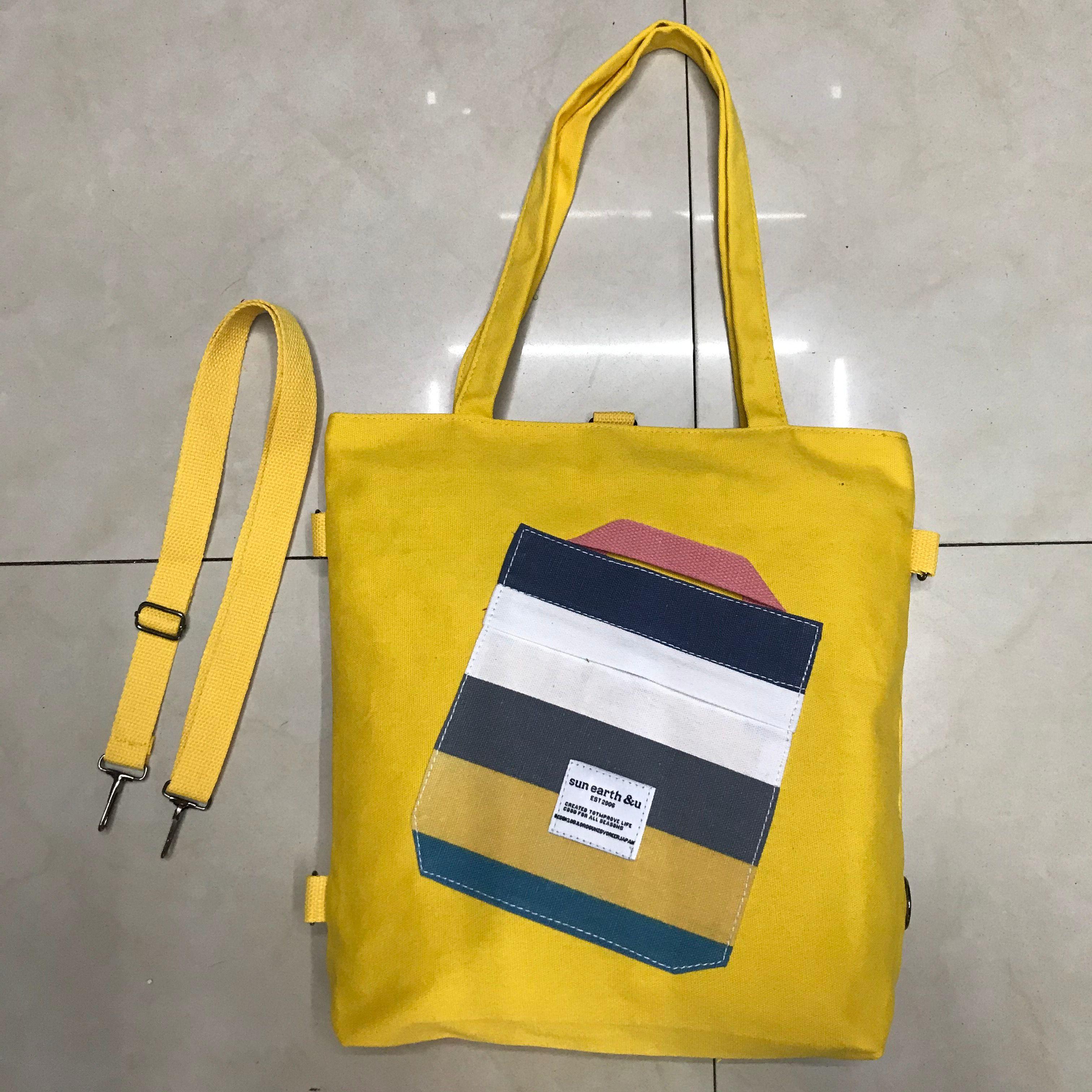 帆布包女斜挎多用大容量学生斜背装书的包百搭手提书包袋