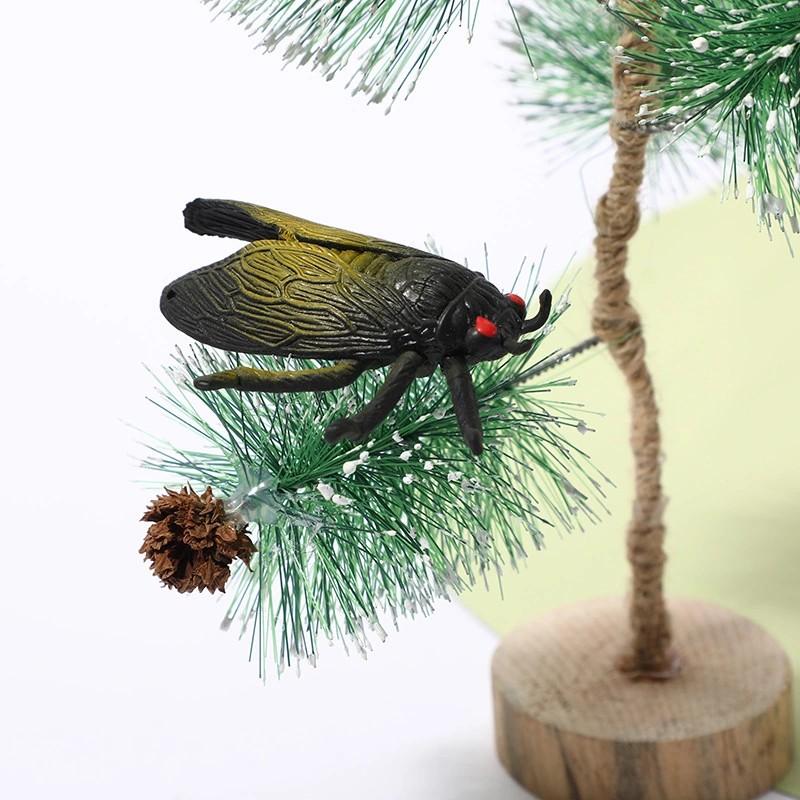 儿童仿真软体知了爬行昆虫模型蝉知了新奇特玩具模型趣味整蛊摆件