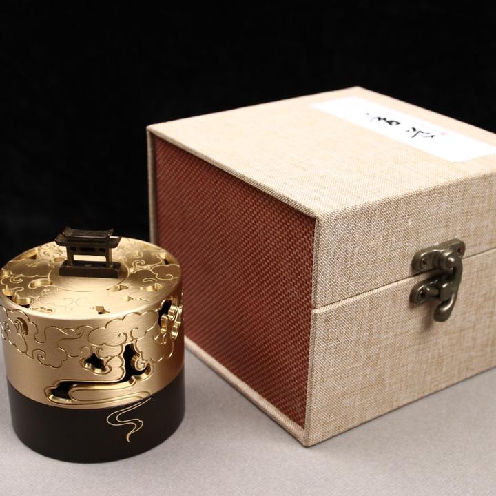 🔥新款—— 品名:云起香炉 材质:黄铜 尺寸:宽7.5口径6.5高9cm           重量:400g